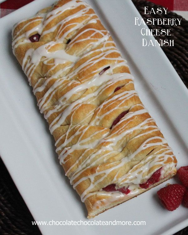 Easy Braided Raspberry Cheese Danish-use your favorite fruit and surprise your family with this easy to make Braided danish!