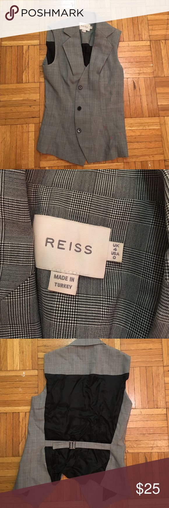 Reiss stylish vest Little wrinkled but otherwise great condition! Reiss Jackets & Coats Vests
