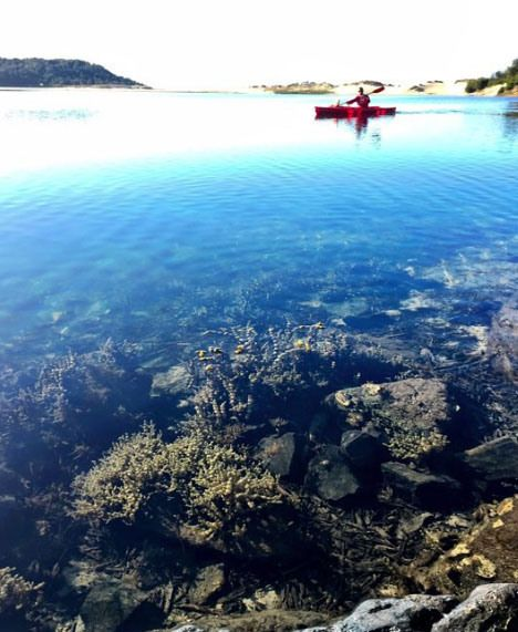 The clear waters of Lake Conjola, NSW, Australia. Photo: NBekavak