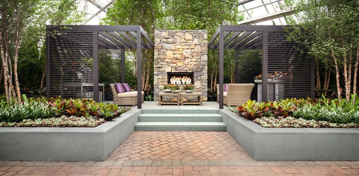 Hicks Nursery Portfolio | Landscaping Ideas & Gardener Services. Long Island.  Beautiful, isn't it?  I love the pergolas with their modern simplicity.