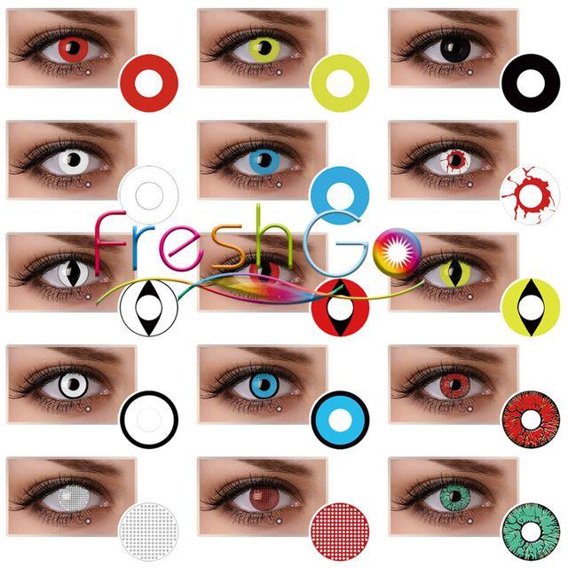 Source Cheap Wholesale Red Cat Eye Circle Lens Manson Bloodshot Halloween  Contact Lens Crazy Contact Lenses 1061ba0ea644
