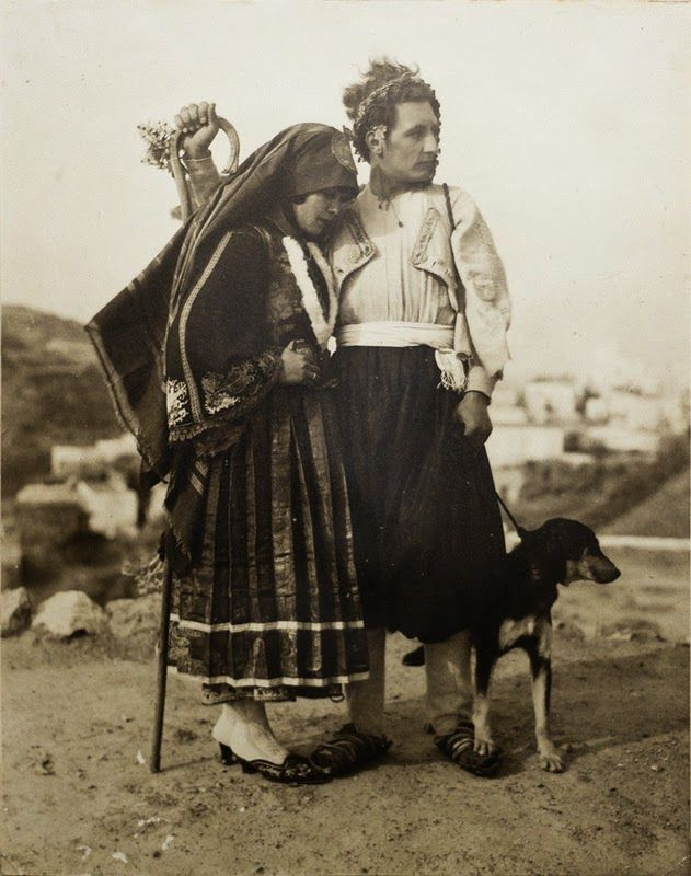 Wedding Portrait from Skyros island,Greece 1928