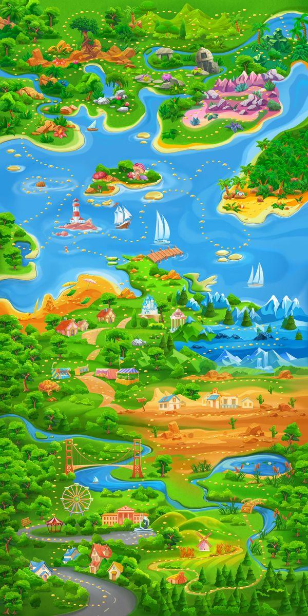 Bubble Cat Adventures on Behance (Монгол зурагыг ийм хүүхэлдэйн хэлбэрт оруулж Digital-аар зурна...)