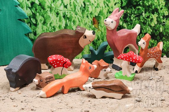 Hey, I found this really awesome Etsy listing at https://www.etsy.com/listing/248923582/sale-20-off-wooden-toy-wild-animal-set-8