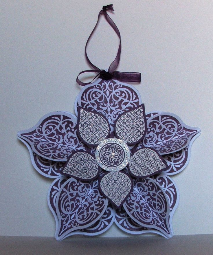 Stampin' Up! Christmas decoration in Perfect Plum.