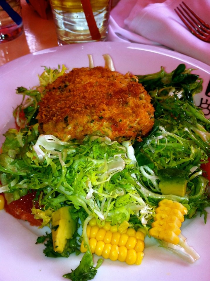 my crab cake salad from serendipity