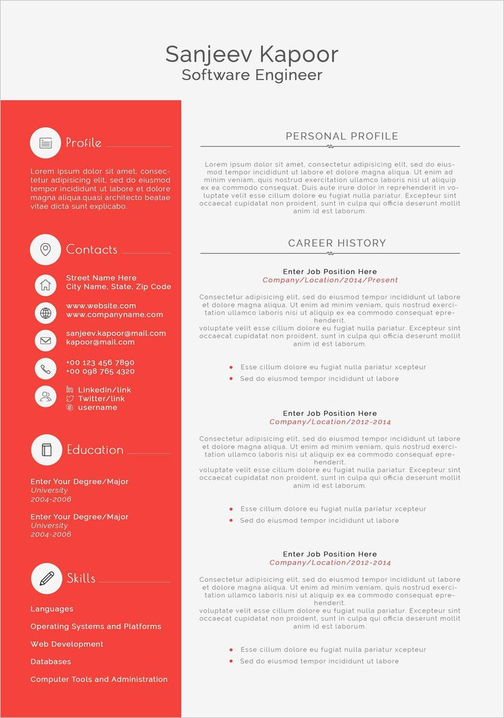 41++ Resume template wordpad download Resume Examples
