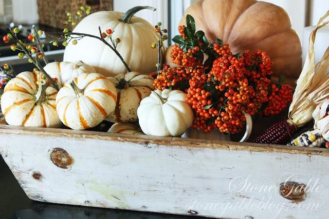 Gorgeous Fall display via Stonegable.