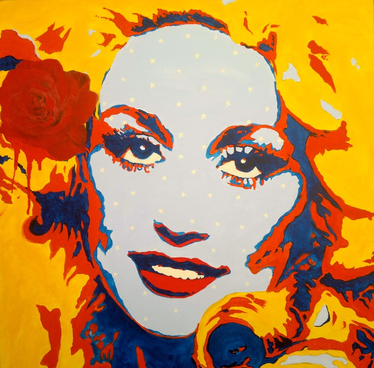 Hello Dolly!  commission for a friend  80cm x 80cm Acrylic paint on cotton canvas