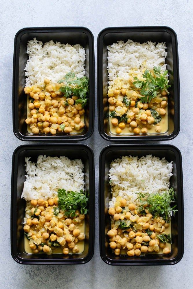 Chickpea Curry With Jasmine Meal Prep Recipe Vegan Veganrecipes Mealprep Chickpea Curry Gluten Free Meal Prep Recipes
