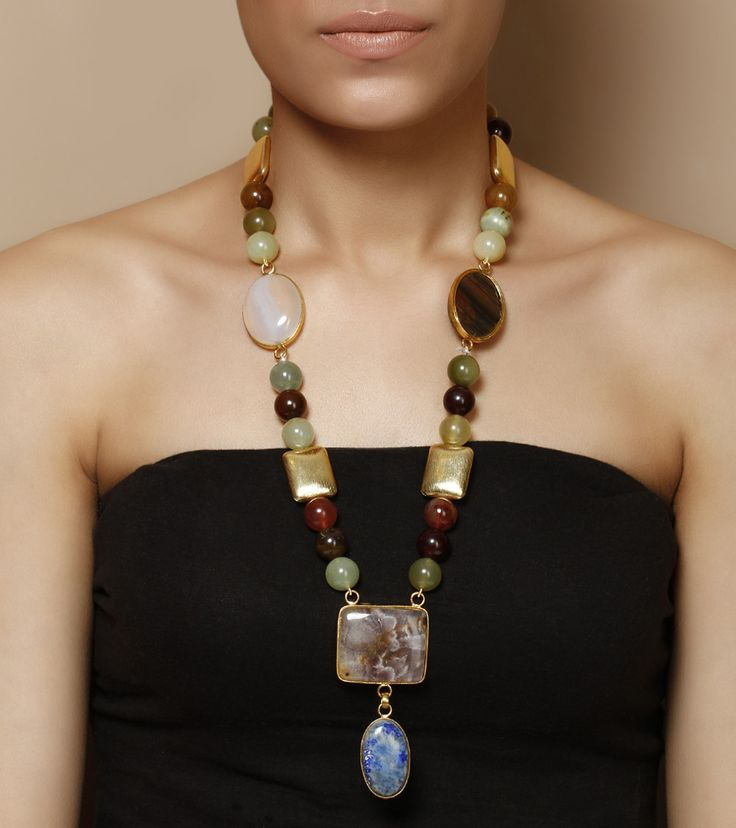 Stone Studded Necklace by Indiatrend Shop now on www.indianroots.com