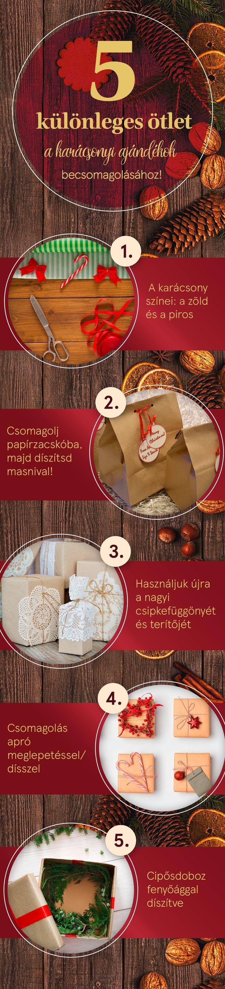 5 különleges ötlet a karácsonyi ajándékok becsomagolásához! :)