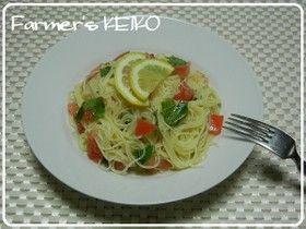 【農家のレシピ】トマトの冷製パスタ