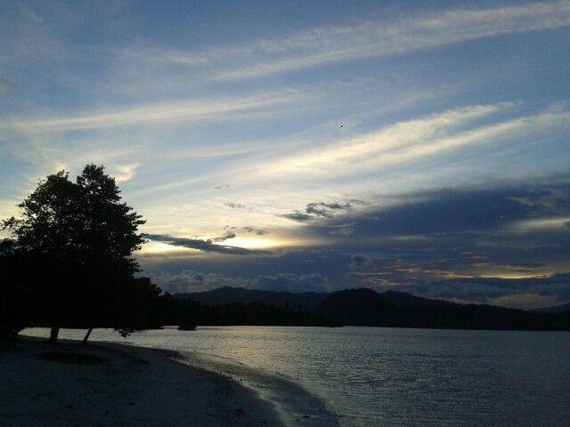 Sunset at Pulau Pahawang, Lampung