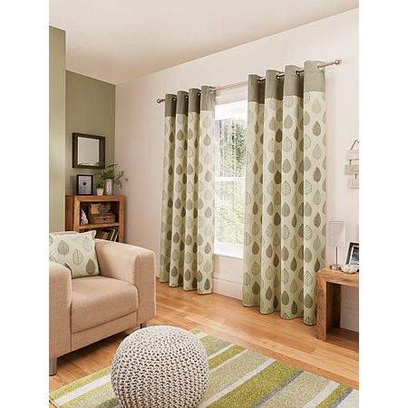 Asda George Home Natural Leaf Curtains from £24.00