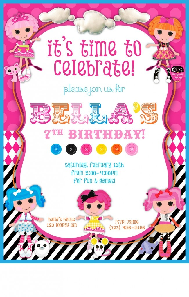 Lalaloopsy birthday invitation cu945 lalaloopsy birthday lalaloopsy birthday invitation template invitationswedd org filmwisefo