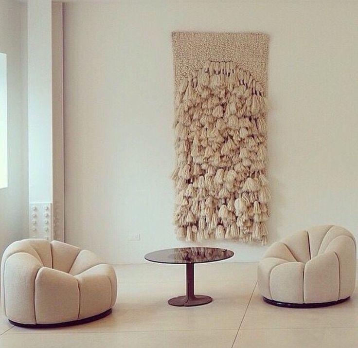 Large macrame hanging wall weaving