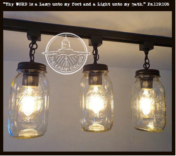 Mason Jar TRACK LIGHTING New Quarts