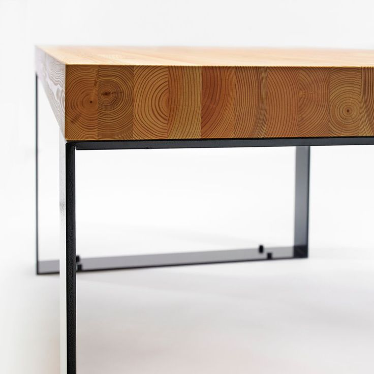 The industrial-chic Kai dining bench focuses on balance and proportions.