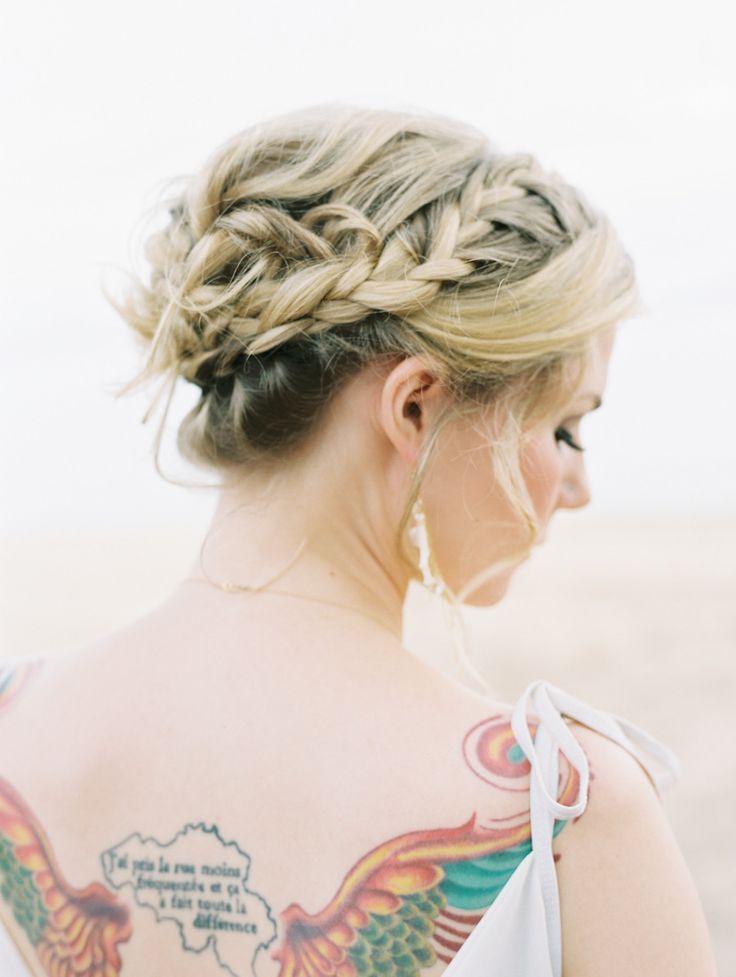#hairstyles, #braids  Photography: Wendy Laurel - www.wendylaurel.com  Read More: http://www.stylemepretty.com/destination-weddings/2014/05/13/hawaiian-beach-wedding-inspiration/