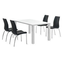 Pöytä OMME + 4 tuolia musta HAVNDAL