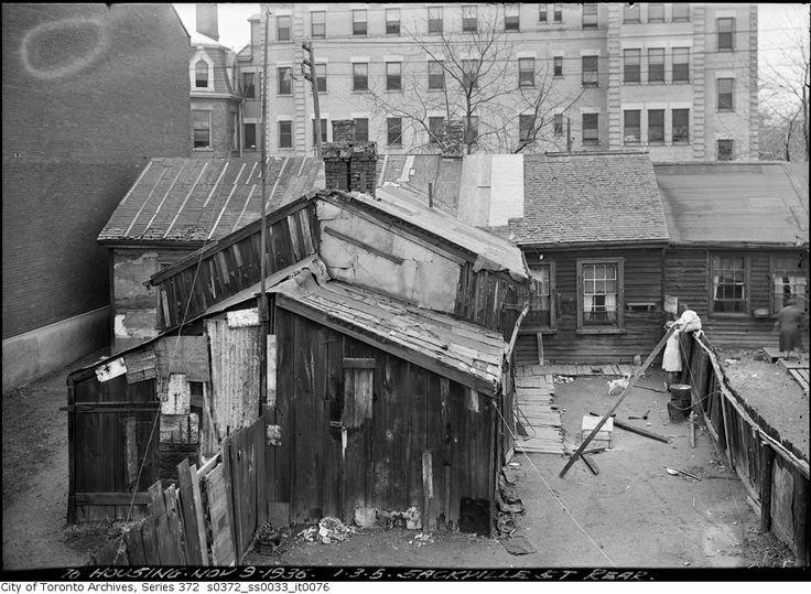 1, 3, 5 Sackville Street Rear, Nov. 9, 1936. City of Toronto Archives
