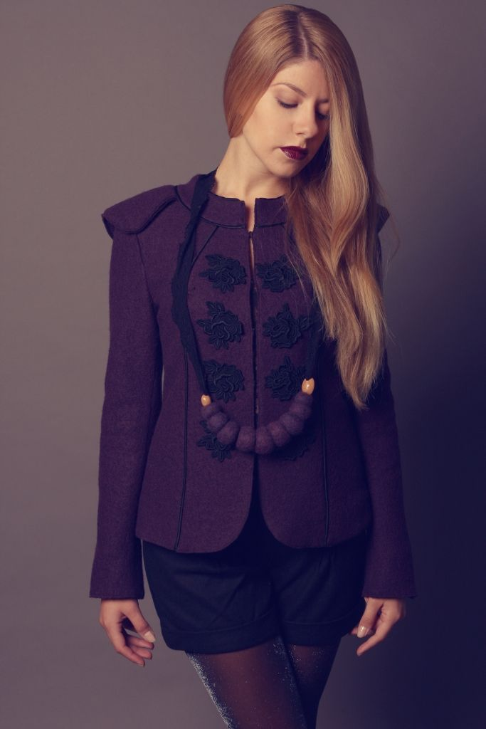 Woll jacket with silk lining. It doesn't have closed stitches which I love. #advisemystyle