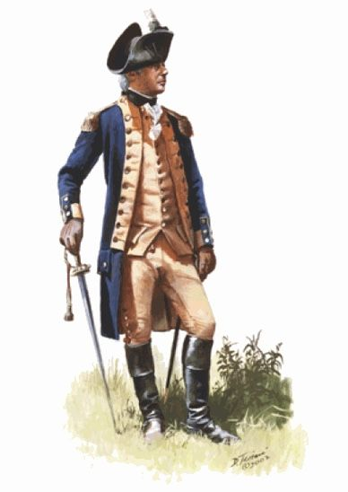 Continental Army Officer, 1778. (www.dontroiani.com)