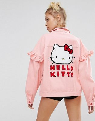 Lazy Oaf X Hello Kitty Denim Jacket With Back Patch