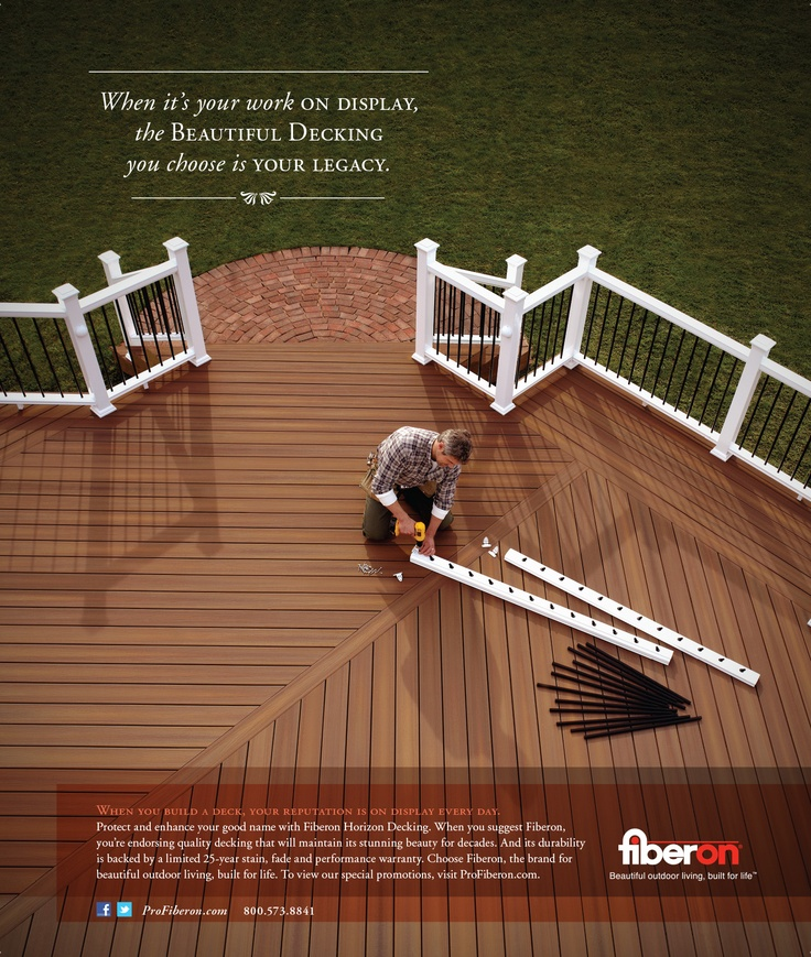 Fiberon Magazine Advertisement Outdoor Living