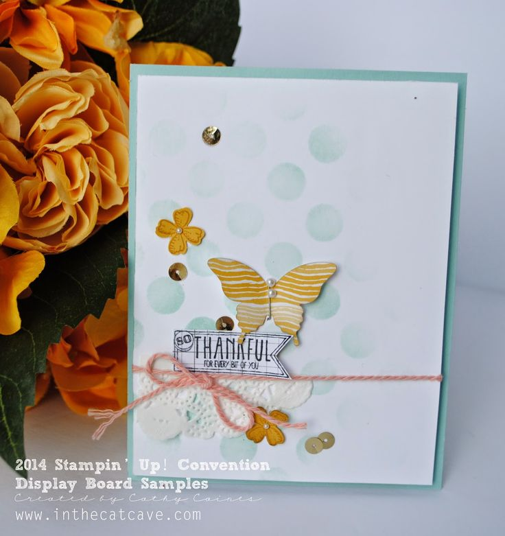 Convention Display Boards | Thankful for doilies and stencils by Cathy Caines @stampinup