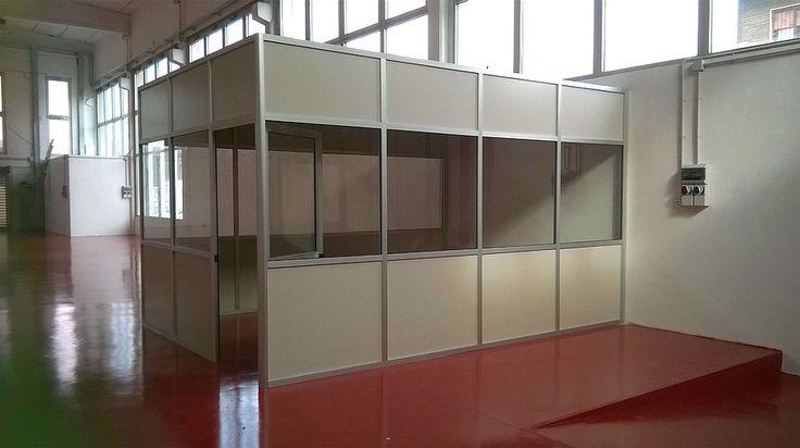 Box ufficio realizzato a misura con le nostre pareti divisorie-mobili