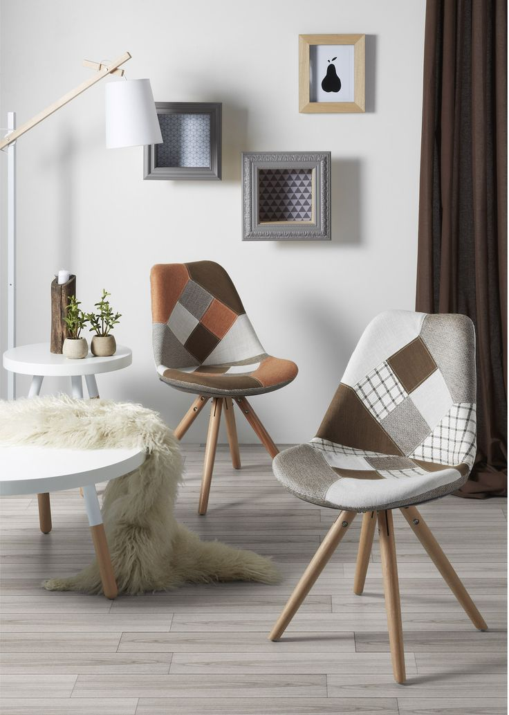 Ralf stoel patchwork oranje - Kave Home