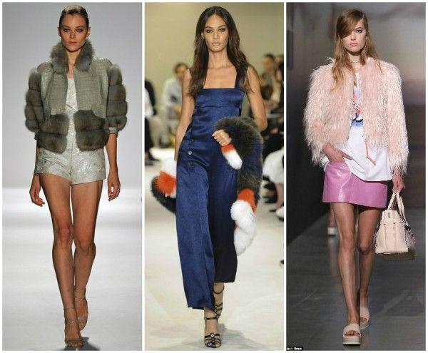 Faux fur fashion spring/summer 2015