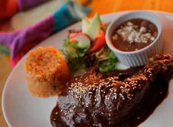 The chicken mole dish from Los Amates Mexican restaurant in Fitzroy.