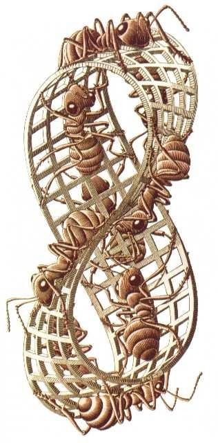 Banda de Moebius de Escher