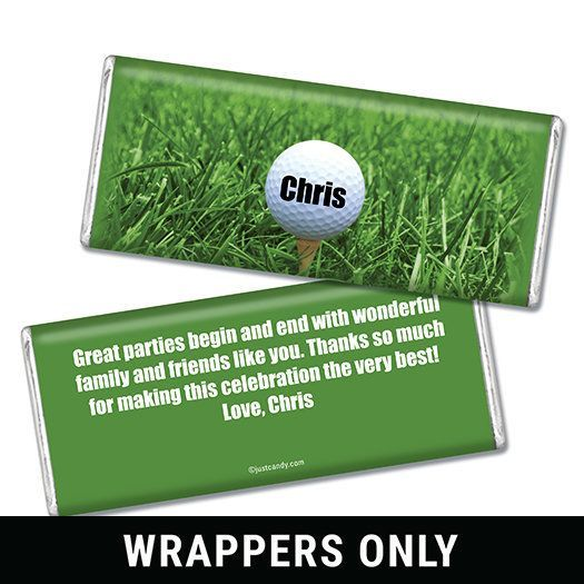 Golf Swing Personalized Candy Bar - Wrapper Only