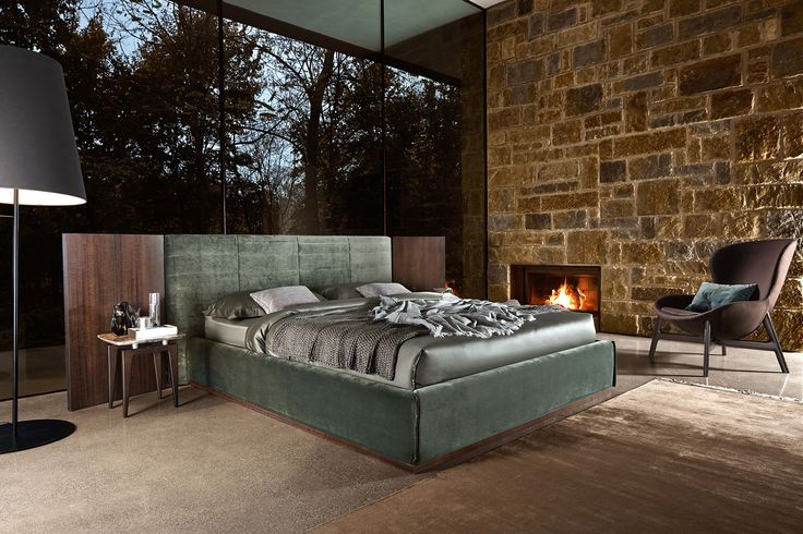 #Grandangolo has a special #feature that sets it apart from any other #beds #ditreitalia #newproducts #bed #design #cozy