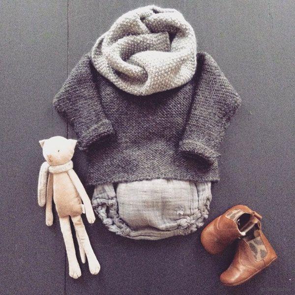 Pull point mousse Tocoto Vintage et bloomer dentelle - mode bébé / baby fashion…