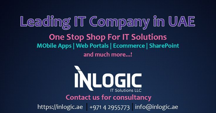 Inlogic One Stop Shop For It Solutions In Uae Inlogic Shop Solutions Stop Uae Solutions Uae Web Design