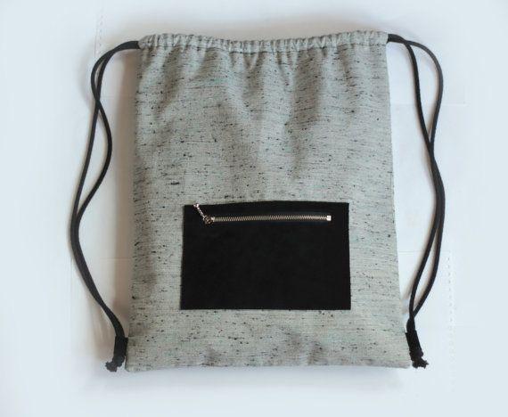 Verstellbarer Kordelzug Rucksack / Rucksack von CosmosBits auf Etsy