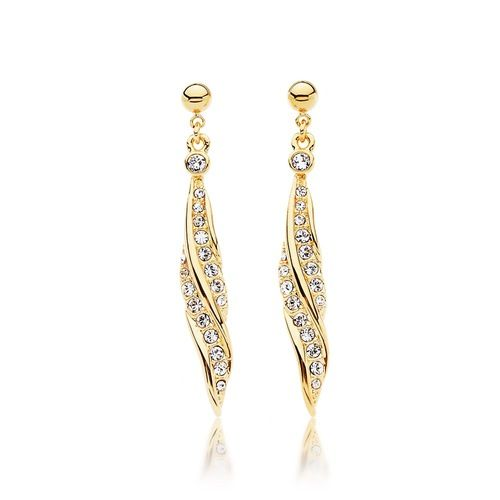 Florence Drop Earrings with Swarovski® Crystals Gold Plated