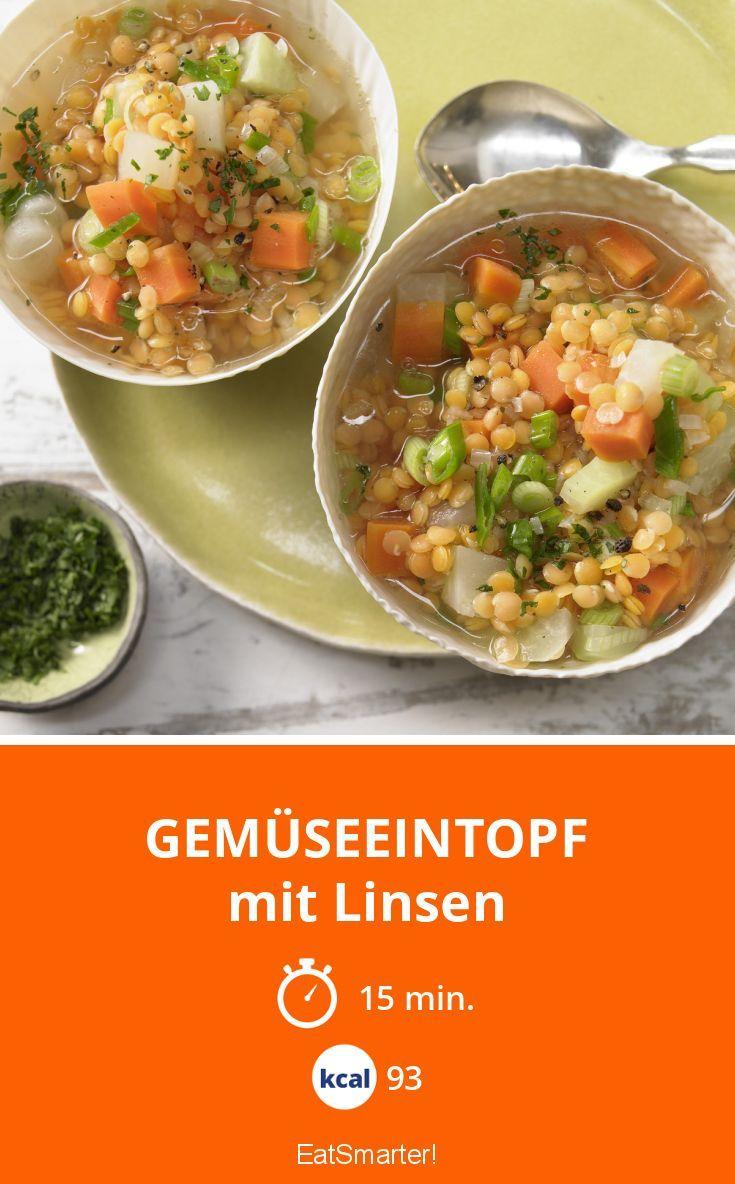 Gemüseeintopf - mit Linsen - smarter - Kalorien: 93 Kcal - Zeit: 15 Min. | eatsmarter.de
