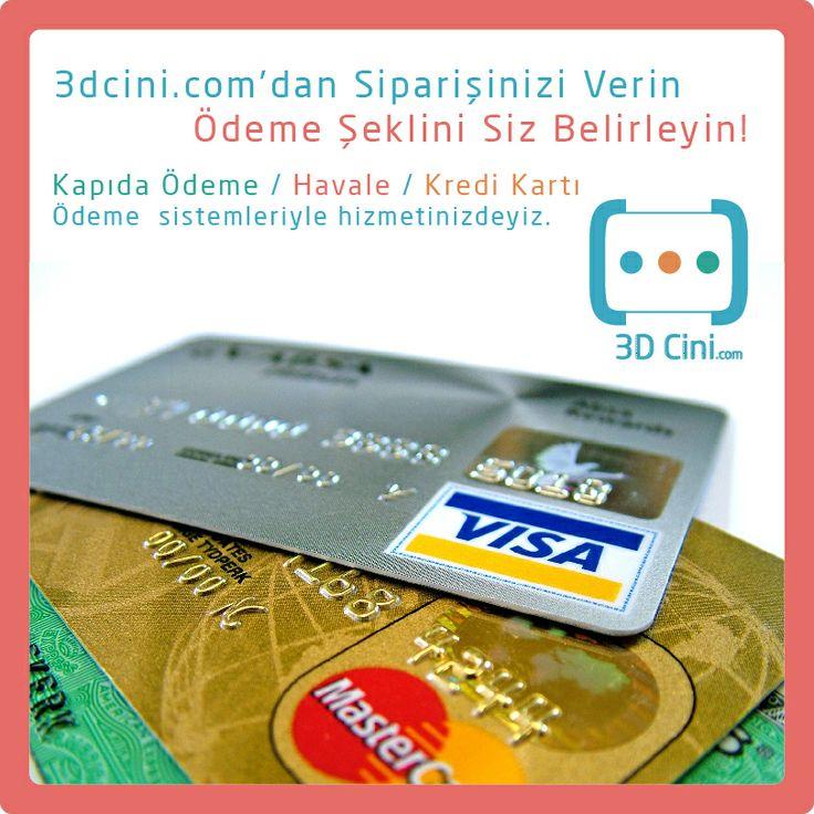 Siparişlerinizi güvenle verebilirsiniz. Kapıda Ödeme/ Havale/ Kredi Kartı Ödeme sistemleriyle hizmetinizdeyiz. www.3dcini.com