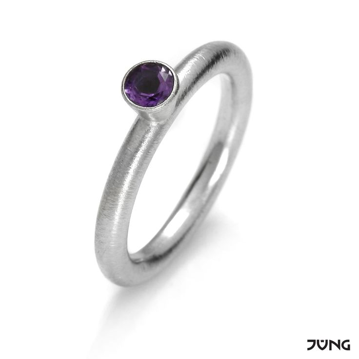 silver ring with amethyst  http://en.dawanda.com/product/95079063-silver-ring-with-amethyst