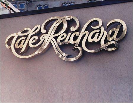 Cafe Reichard: Design Inspiration, Typography Design, Script, Typographic Designs, Typography Inspiration, Branding Graphics Design