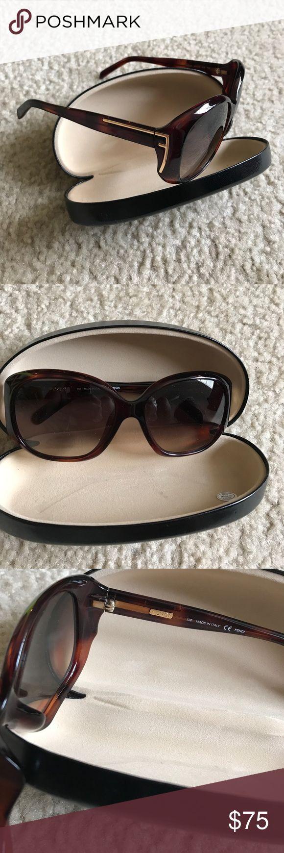 New Fendi Sunglasses Tortoise Brown Sunglasses. FYI: Neiman Marcus last call did not send the original case with the sunglasses. Fendi Accessories Sunglasses