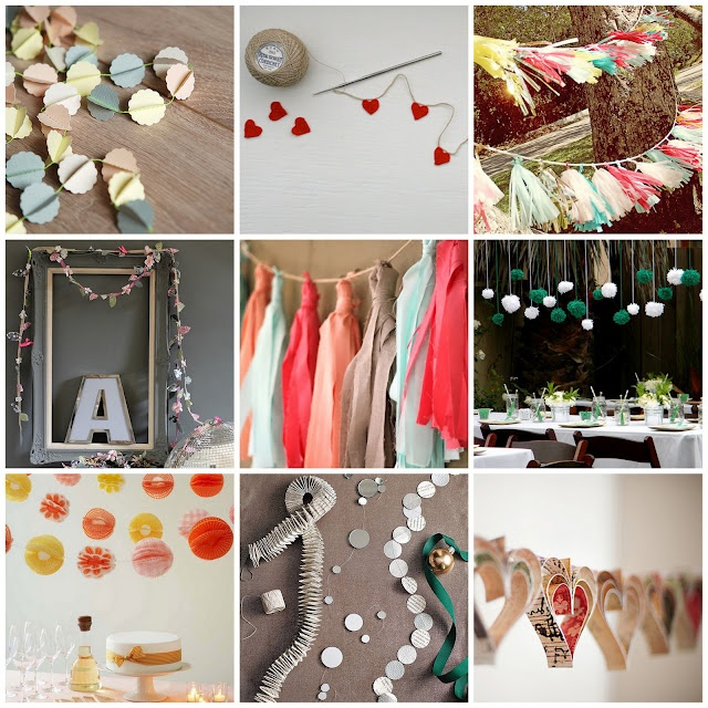 lots of cute ideas:)Pretty Parties, Crafts Ideas, Terrific Toppers, Cupcakes Toppers, Parties Garlands, Diy Garlands, Parties Ideas, Gorgeous Garlands, Parties Decor