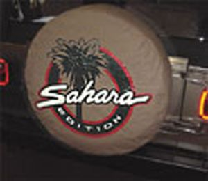 Jeep Sahara Tan Tire Cover for Wrangler Saharas