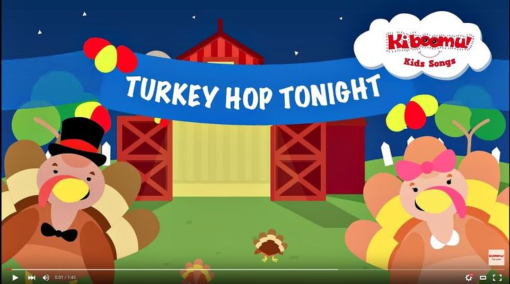 Do The Turkey Hop is a super fun Thanksgiving action song for kids! #preschool #thanksgiving